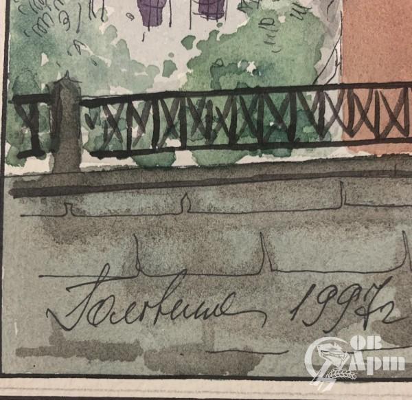 """Акварель  """"Москва """"Собор Василия Блаженного"""""""