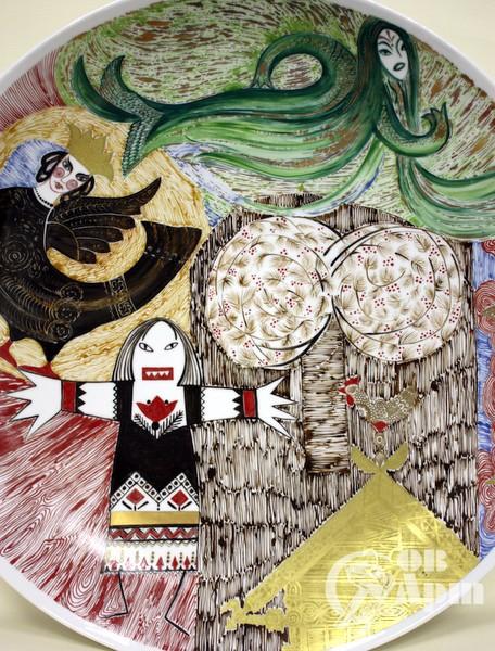 """Авторское блюдо Т.Н. Безпаловой """"Дивы и сказки озера Нево"""""""