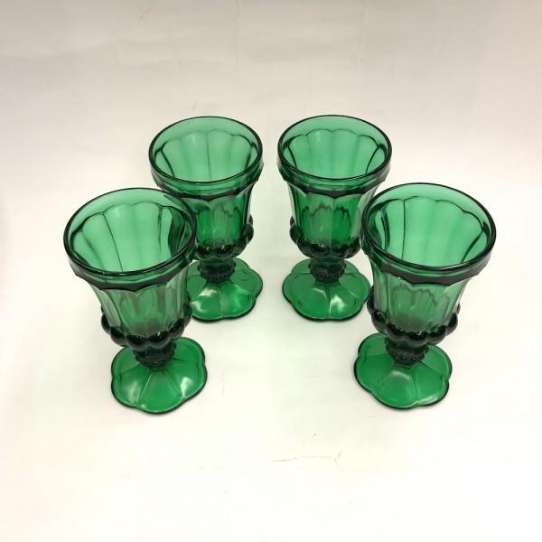 Бокалы зеленое стекло
