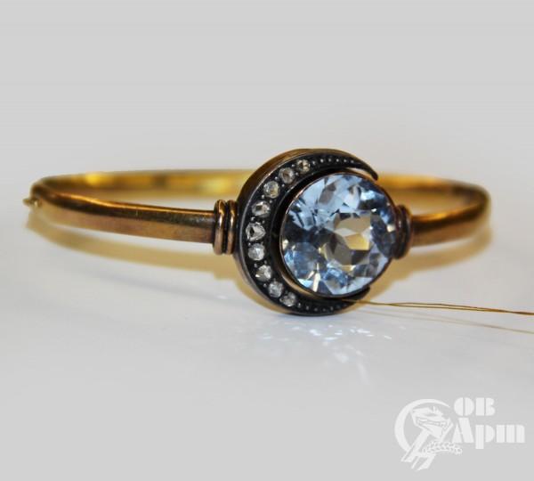 Браслет со шпинелью и алмазами