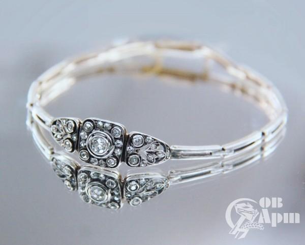 Браслет в стиле Модерн с бриллиантами