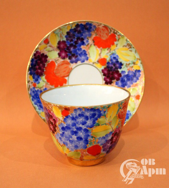 "Чашка с блюдцем ""Летние цветы. Камелия"""