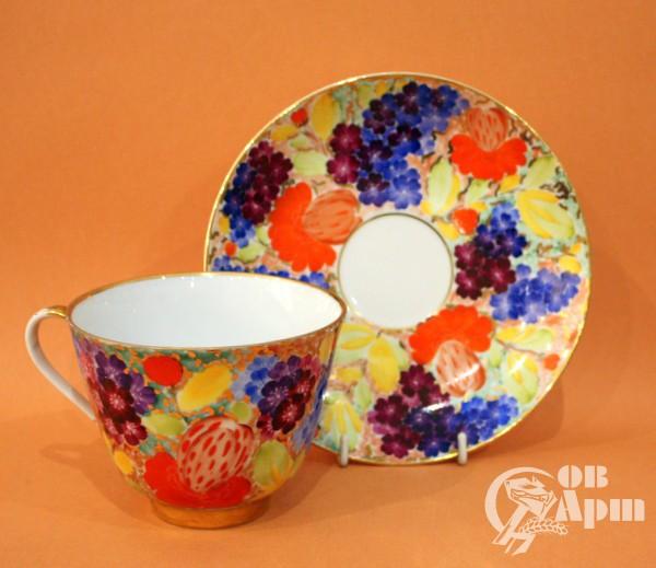 """Чашка с блюдцем """"Летние цветы"""""""