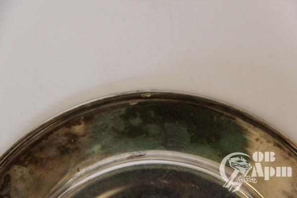 Чашка с блюдцем, серебро
