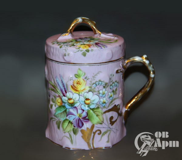 """Чашка с крышкой """"Цветы"""""""