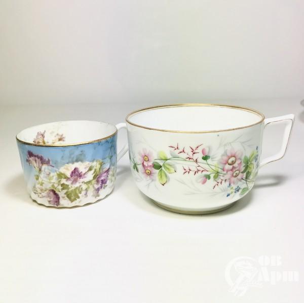 Крупная чайная пара для завтрака «Шиповник»