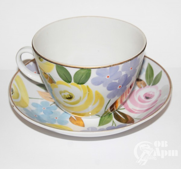 "Чайная пара ""Голубые цветы"","