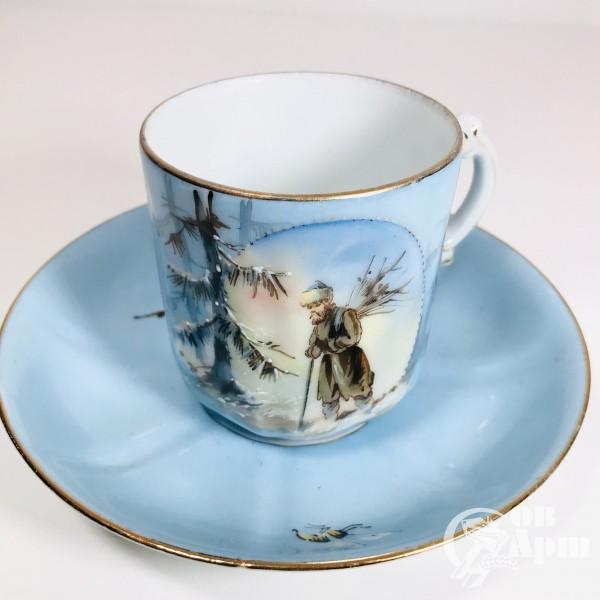 Чайная пара «Крестьянин в зимнем лесу»