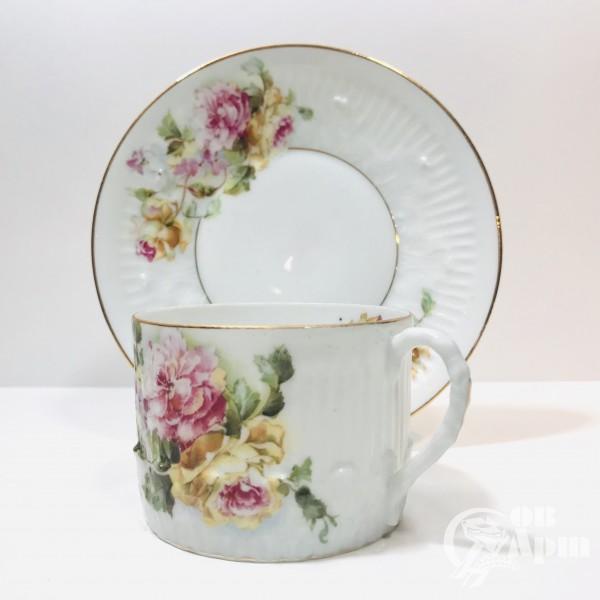Чайная пара « Розы и гортензия»