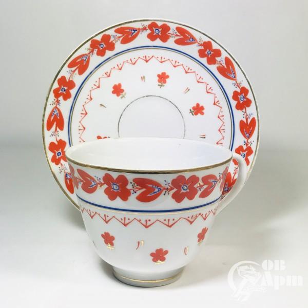 Чайная пара «Оранжевый орнамент»