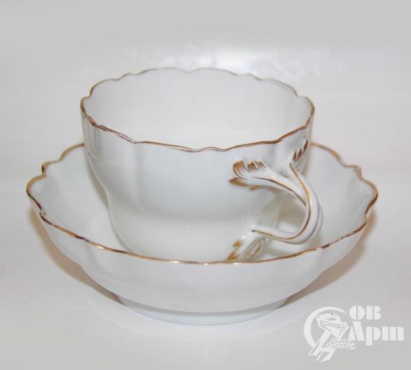 Чайная пара с золотой каймой