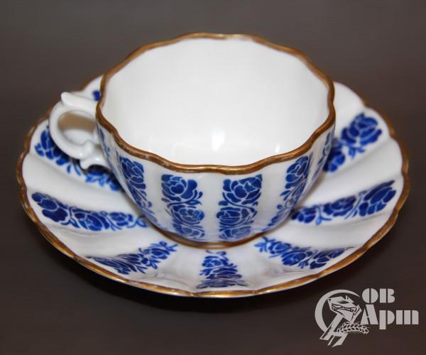 """Чайная пара """"Синие цветы"""""""