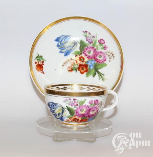 """Чайная пара """"Цветы"""""""