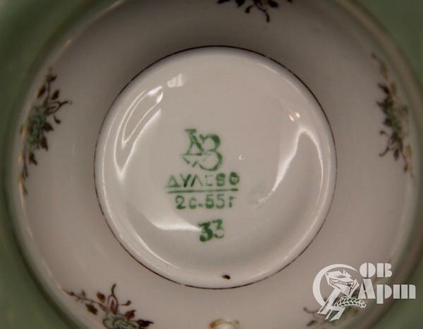 """Чайная пара """"Цветы на зеленом"""""""
