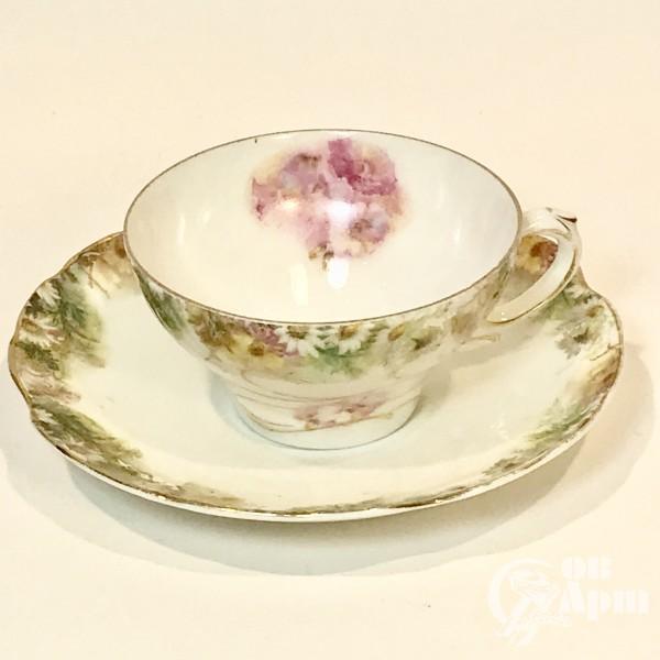 """Чайная пара в стиле модерн """"Полевые цветы"""". Ранний Розенталь"""