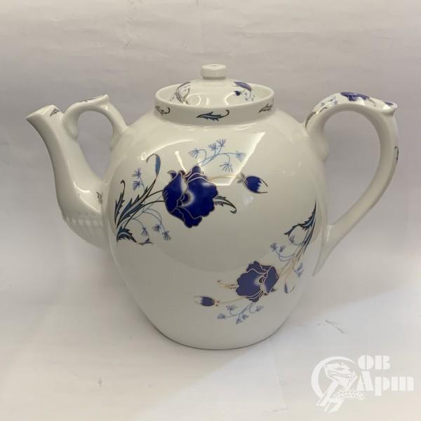 """Чайник  доливной """"Синие цветы"""""""