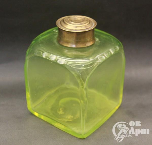 Чайница - урановое стекло