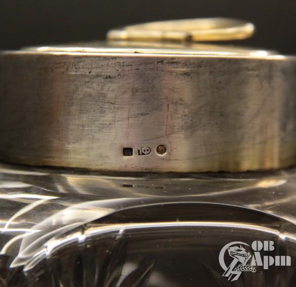 Чайница хрусталь в серебре