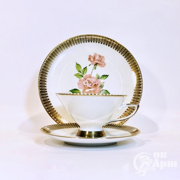 "Чайное трио  ""Роза"""