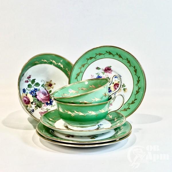 Чайное трио « Розы и пион»