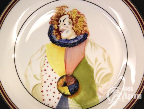 """Декоративная тарелка """"Клоун Бим Бом"""""""