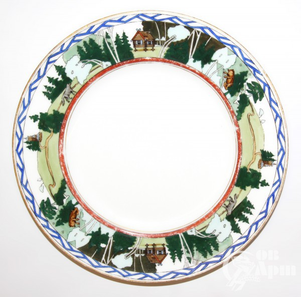 Декоративная тарелка со сказочными мотивами