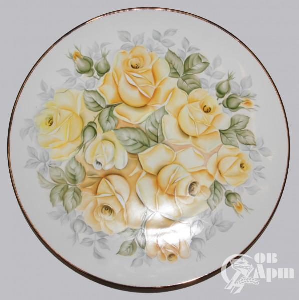 "Декоративная тарелка ""Желтые розы"""
