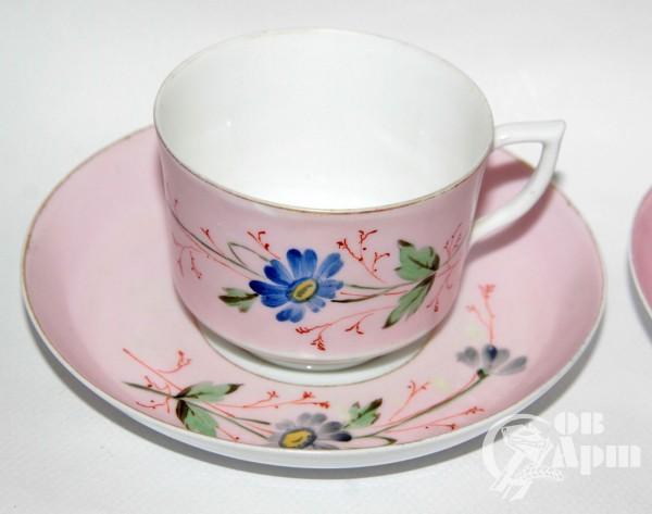 Две чайные пары с васильками