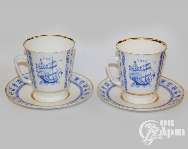 """Две кофейные пары """"Корабли"""""""