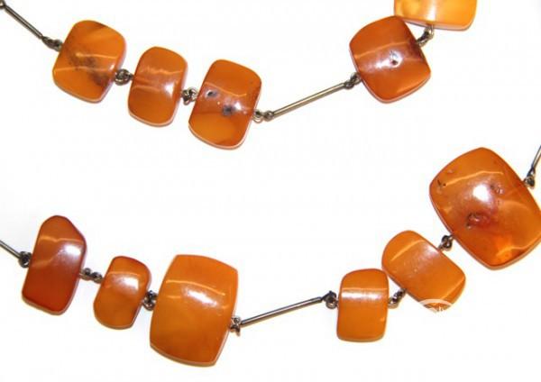 Двойная цепь с янтарем