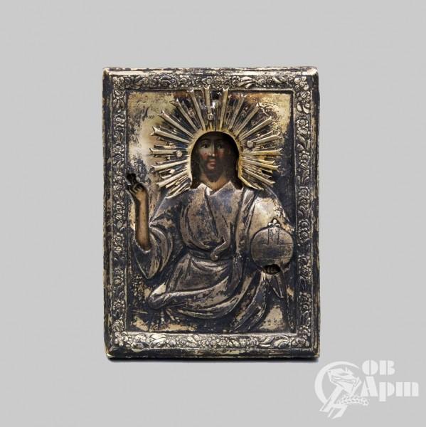 """Икона """"Господь Вседержитель"""" в окладе"""