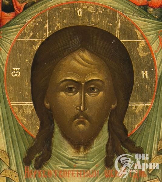 """Икона """"Образ Спаса Нерукотворного"""" в киоте"""