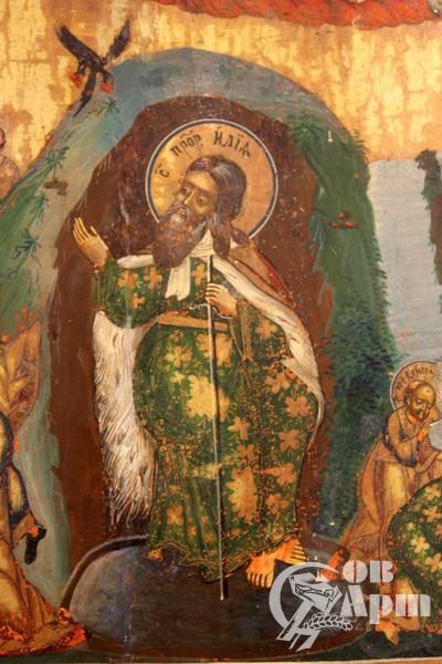 """Икона """"Огненное восхождение пророка Ильи"""""""