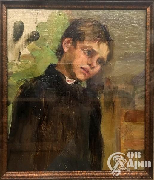 """Картина """"Этюд. Мальчик, наклонивший голову"""""""