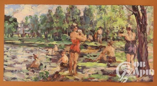 """Картина """"Лесной пляж"""""""