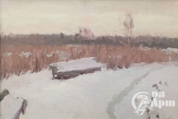 "Картина ""Снег в парке"""