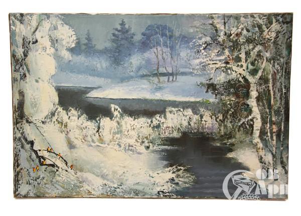 "Картина ""Зимняя речка"""