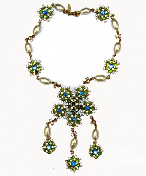"""Колье Chanel  """"Цветы"""" с цветным Gripoix"""