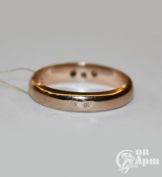 Кольцо - дорожка с бриллиантами
