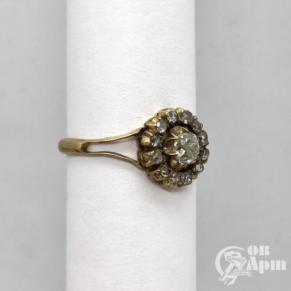 Кольцо - малинка с бриллиантами