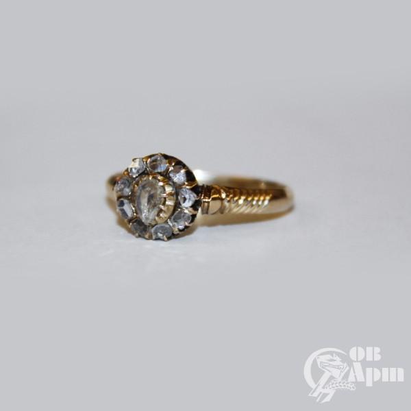 """Кольцо """"Малинка"""" с алмазами"""