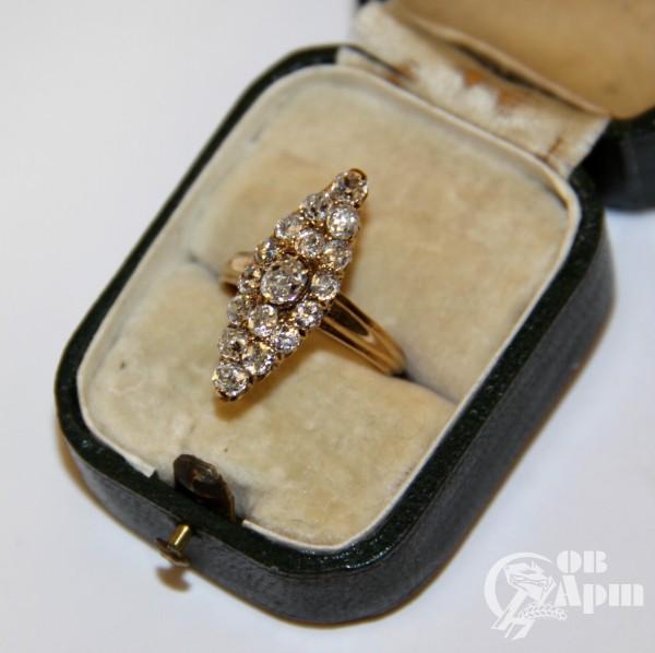 """Кольцо """"Маркиз"""" с бриллиантами"""
