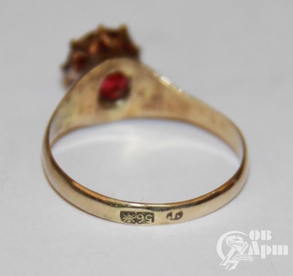 Кольцо с дуплетом