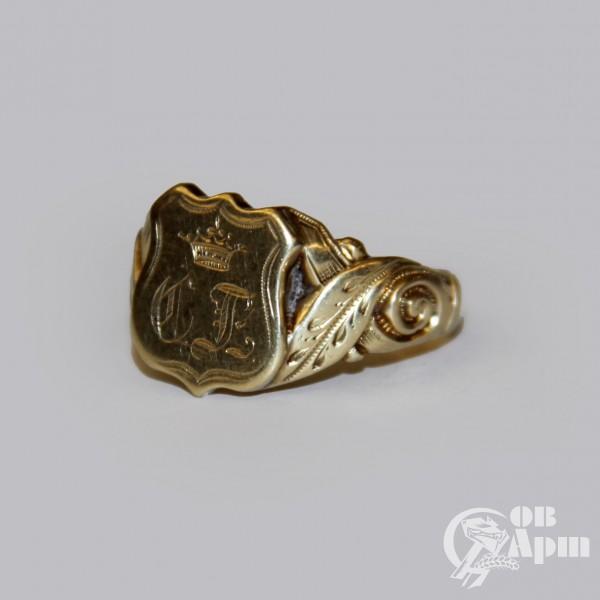 Кольцо с дворянским гербом