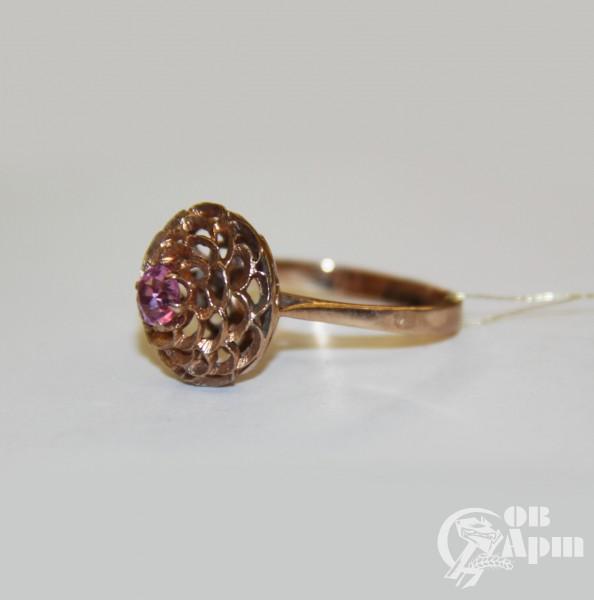 Кольцо с корундом