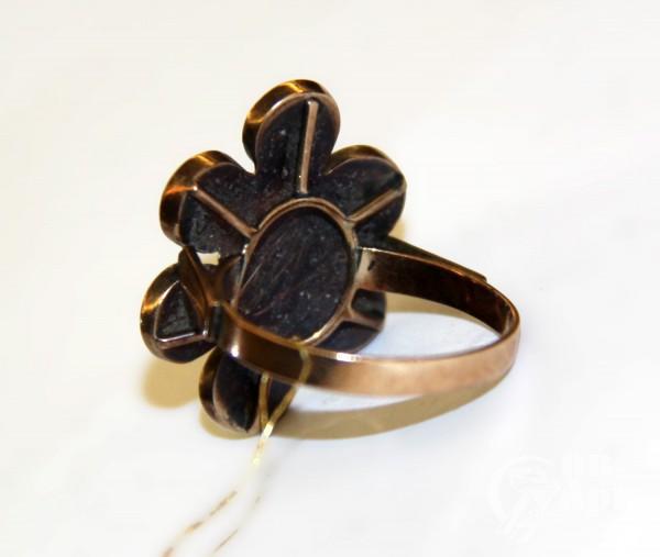 """Кольцо со смальтой """"Цветок"""""""
