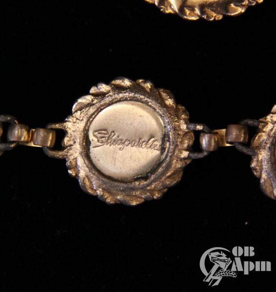 """Комплект """"Арбузы"""" Schiaparelli: колье, клипсы, браслет"""