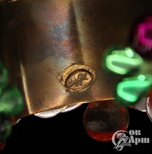 Комплект: браслет, клипсы и кольцо от WENDY GELL