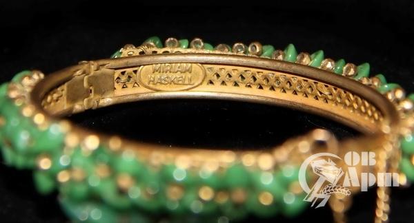 Комплект: браслет и клипсы Мириам Хаскел