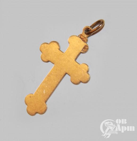 Крест нательный с эмалью